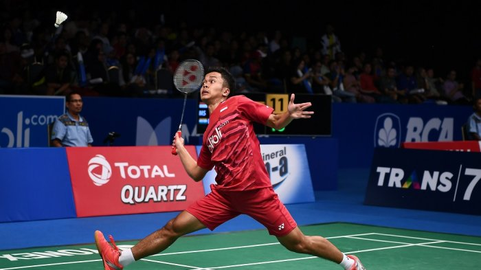 Link Live Streaming Korea Open 2018, Perempat Final Ginting Kembali Bertemu Chou Tien Chen Jam 16.00