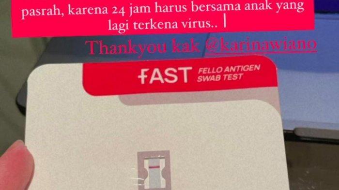 Hasil tes antigen rapid test Nia Ramadhani