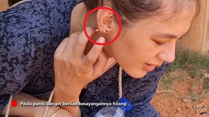 Paula Verhoeven Panik Anting Berlian Hilang di Tanah, Baim Wong Nyinyir : Segede Gitu Mana Keliatan