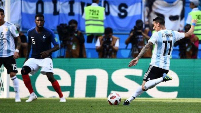 Babak Pertama Argentina vs Perancis, Penalti Antoine Griezmann Diimbangi Gol Indah Di Maria