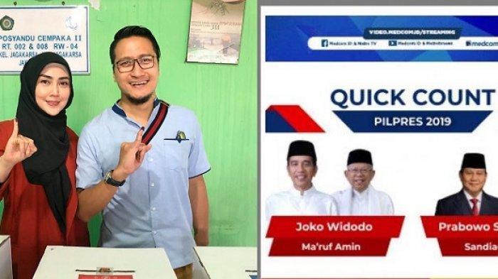 Arie Untung Unggah Hasil Quick Count Sementara, Sudah Ucap Selamat Tapi Lalu Dihapus, Loh Kenapa?