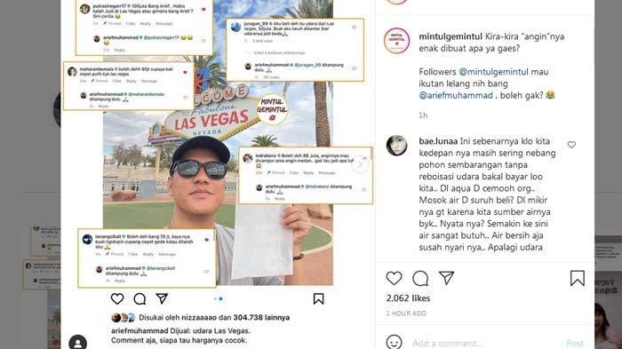 Arief Muhammad Jual 'Angin' dari Las Vegas, Ivan Gunawan Saingan dengan Crazy Rich Beli Rp 100 Juta