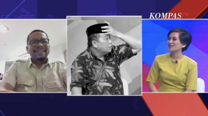 Arief Puyuono Sibuk Membetulkan Peci Saat Live Isu Reshuffle, M Qodari Tak Kuasa Menahan Tawa