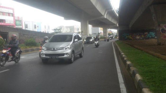 Lalu Lintas Jalan Sholeh Iskandar Arah Simpang Tol BORR Lancar