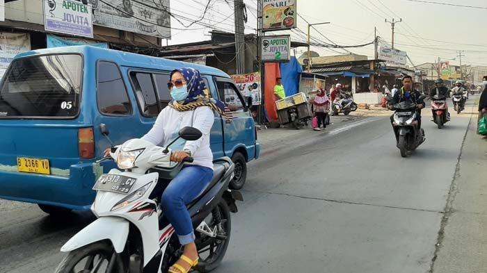 Arus Lalu Lintas Pagi Ini, Jalan Raya Citayam Ramai Tanpa Hambatan