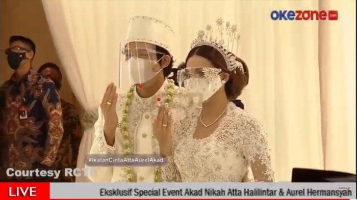 SAH, Atta Halilintar dan Aurel Hermansyah Resmi Jadi Suami Istri, Mas Kawinnya Rp 342.021