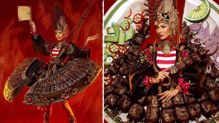 Pakai Kostum Sate, Aurra Kharishma Gadis Majalengka Wakili Indonesia di Miss Grand International