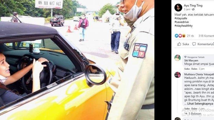 Petugas Satpol PP Dihukum setelah Menyetop Mobil Ayu Ting Ting saat Ganjil Genap, Ini Penyebabnya