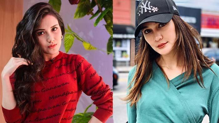Potrret Luna Maya (kanan) dan Ayu Ting Ting (kiri)