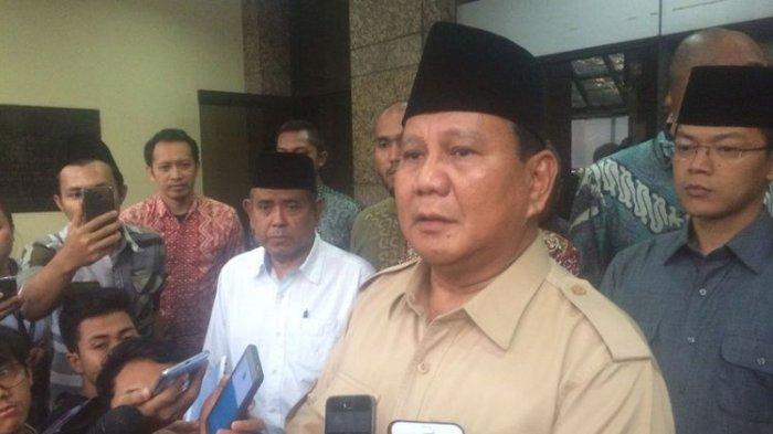 Prabowo Subianto Hentikan Kampanye di Sulawesi Tengah Sementara Waktu