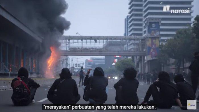 video tim Mata Najwa pelaku pembakar halte Sarinah