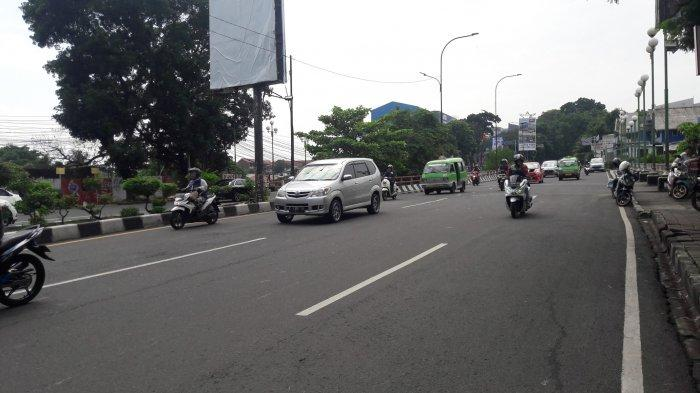 Senin Pagi Jalan Raya Pajajaran Bogor Lancar di Jembatan Bale Binarum