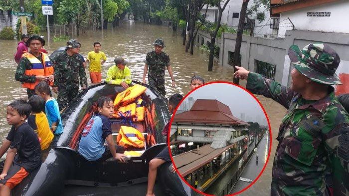 Banjir Jakarta - Jadwal Perjalanan Kereta Jarak Jauh Terganggu, BNPB Siapkan Perahu Karet