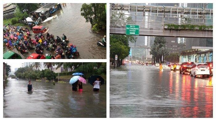 Jalur Rel Kereta di Stasiun Kampung Bandan-Kemayoran, Sudirman, Tanah Abang Masih Terendam Banjir