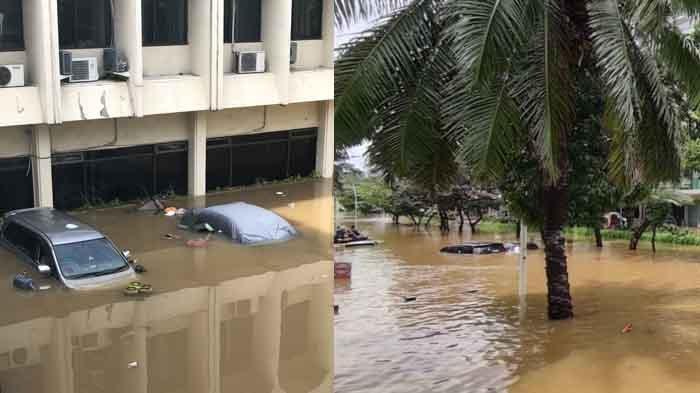 FOTO-FOTO Banjir di Jakarta, Mobil Tenggelam di Kemang dan Cipete, Warga: Belum Pernah Separah Ini