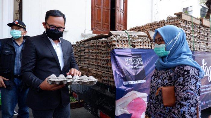 Wow ! Kota Bogor dapat Bantuan 3 Ton Telur dari Kemendag, Bima Arya : Roda Ekonomi Harus Berputar
