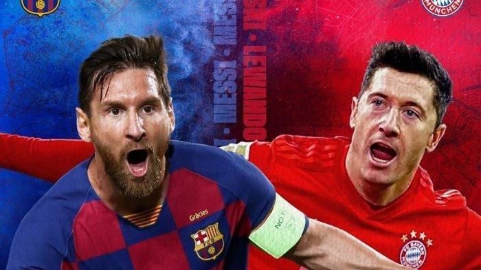 Barcelona vs Bayern Muenchen Live SCTV Malam Ini: Adu Gengsi Messi vs Lewandowski di Liga Champions