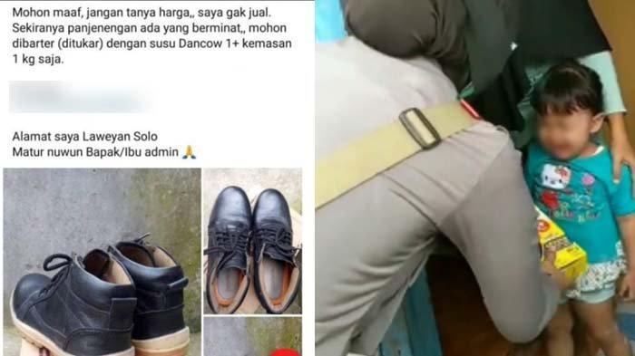 Terpaksa Barter Sepatu Bekas dengan Susu Anak, Video Pria dan Putrinya Dapat Bantuan Bikin Haru