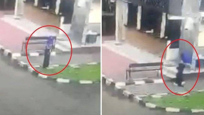 Detik-detik seorang baju hitam baku tembak di Mabes Polri
