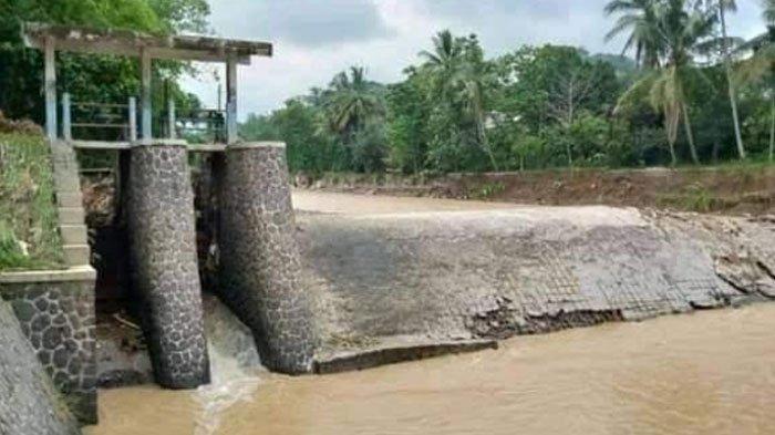 Bendungan Cibongas Nanggung Bogor Rusak, Irigasi Petani 2 Desa Terhambat