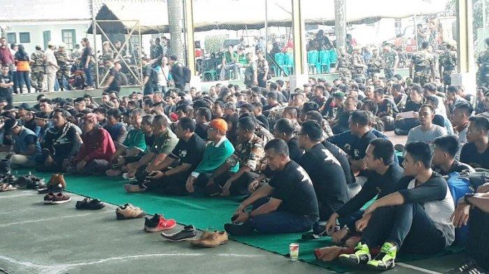 Kumpul di Lapangan Tenis Korem 061/Suryakancana, Ribuan Bikers Bogor 'Dicekoki' Bela Negara