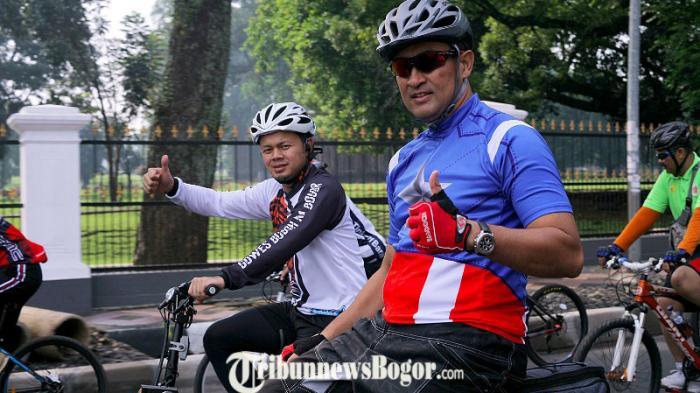Kompak ! Wali Kota, Kapolres dan Dandim Kota Bogor Gowes Bareng