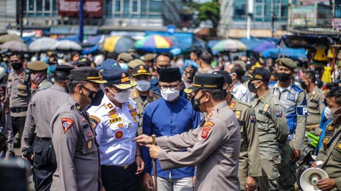 Antisipasi Kerumunan, Satgas Covid-19 Kota Bogor Lakukan Rekayasa di Pasar Kebon Kembang