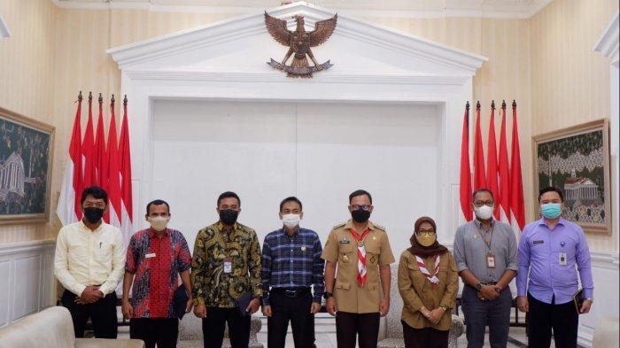 Wali Kota Bogor, Bima Arya secara langsung menerima kunjungan kelembagaan pimpinan Ombudsman di Paseban Suradipati, Balai Kota Bogor, Selasa (14/9/2021).