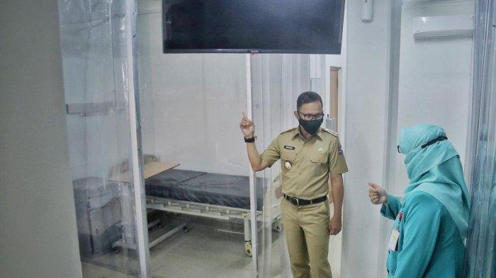 Wali Kota Bogor Bima Arya meninjau Rumah Sakit Khusus Ibu dan Anak (RSKIA) Sawojajar, Pabaton, Bogor Tengah, Selasa (26/1/2021).