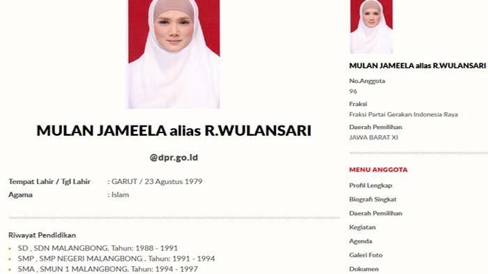 Riwayat Pendidikan Mulan Jameela Jadi Perbincangan, Pihak DPR : Salah Ketik Saja