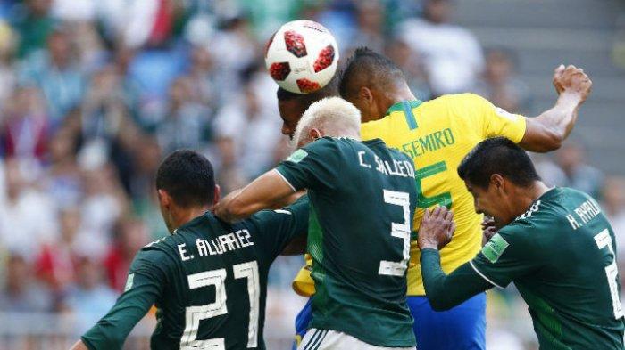 Meksiko Berhasil Tahan Imbang Brazil Dibabak Pertama, Skor Sementara 0-0