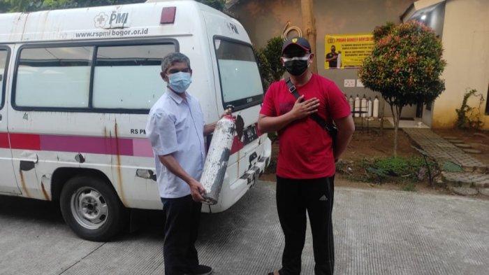 Covid-19 Melonjak, Polisi di Bogor Bagi-Bagi Oksigen Secara Gratis untuk Warga Tak Mampu