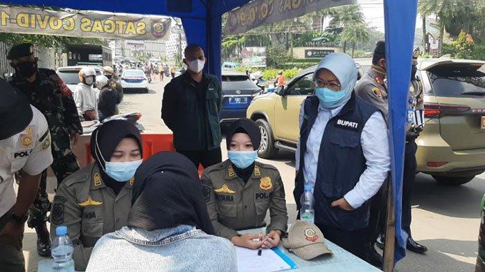 Ratusan Kendaraan Diputar Balik di Simpang Gadog, Bupati Beri Sanksi ke Pelanggar PPKM Darurat