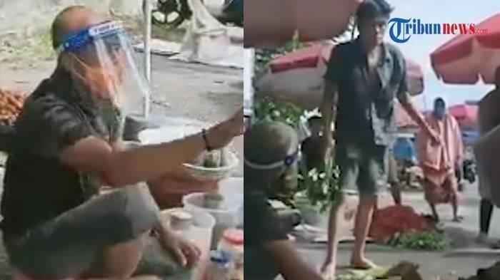 Bupati Bengkulu Selatan Nyamar Jadi Tukang Sayur:Jangan Beli Dagangan Pedagang yang Tak Pakai Masker