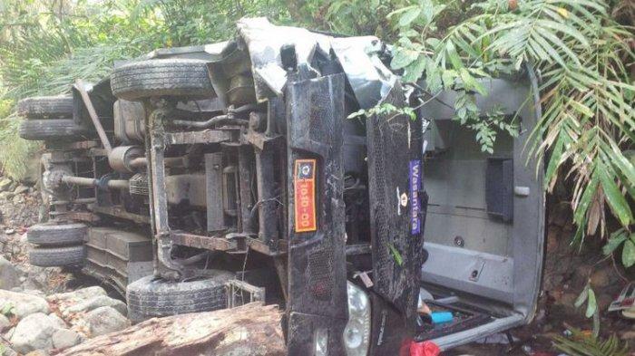 Bus Rombongan Guru yang Kecelakaan di Cikidang Sukabumi Milik Lemhanas