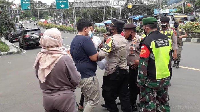 Tolak Jalani Rapid Test Antigen Ulang, Sejumlah Wisatawan Puncak Bogor Cekcok dengan Petugas