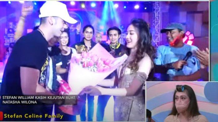 Lihat Video Stefan William Kasih Natasha Wilona Bunga, Celine Tahan Tangis : Jadi Urusan Hati Mereka
