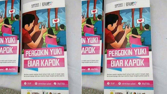 Brosur CELUP Kampanye Antisusila Bikin heboh Netizen,  Ngajak Orang Pergoki yang Lagi Pacaran