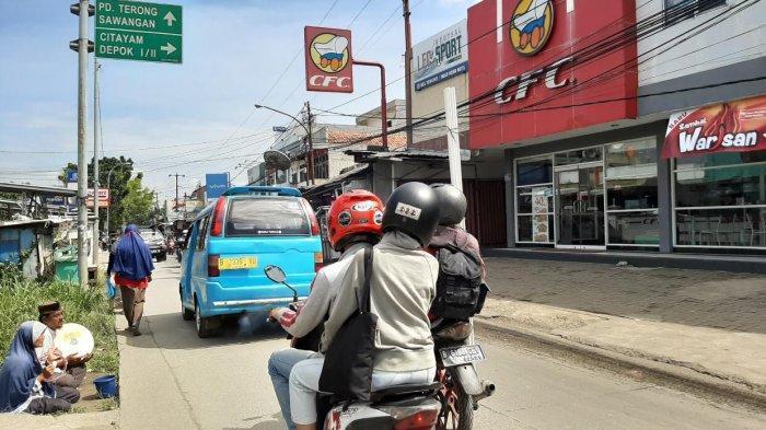 Pagi Ini Jalan Raya Citayam Menuju Depok Terpantau Ramai Lancar