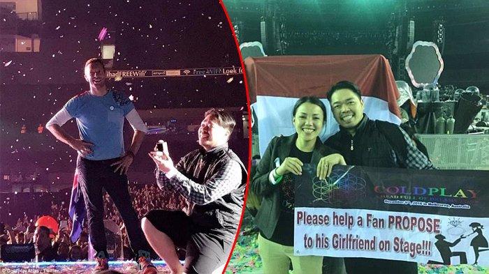 Wow, Pria Asal Indonesia Ini Lamar Kekasihnya di Konser Coldplay, Bikin Iri Ribuan Penonton