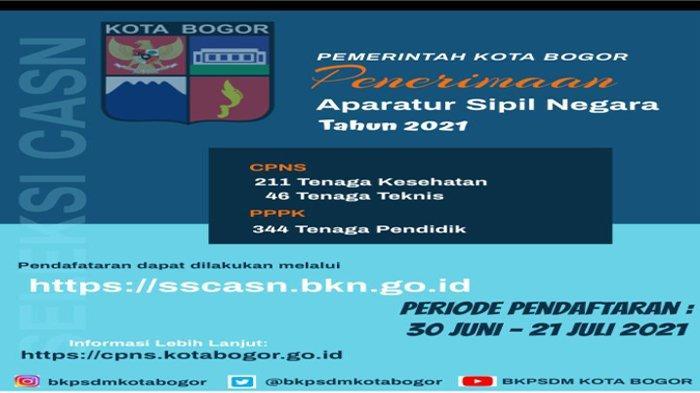 Penerimaan CPNS dan PPPK Kota Bogor tahun 2021.