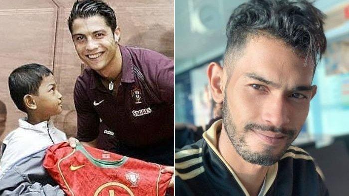 Momen Temu Kangen Korban Tsunami Aceh, Martunis dengan CR7, Ajak Cristiano Ronaldo Joged Bareng