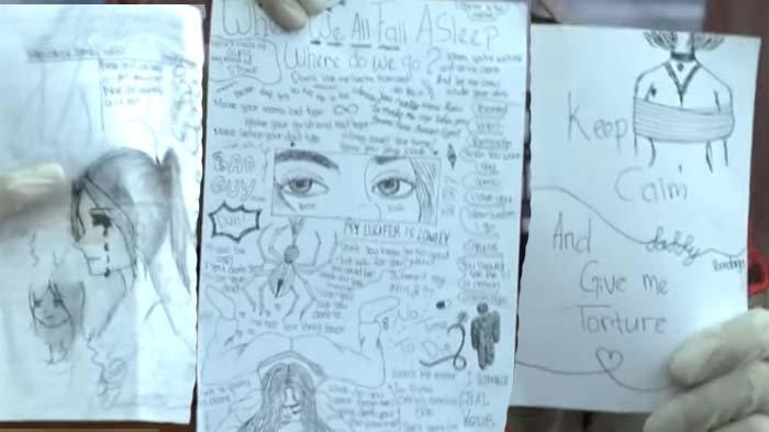 Terbongkar Makna Gambar Gadis Terikat di Buku Siswi SMP Pembunuh Bocah, Ternyata Sesuai Kisah Nyata