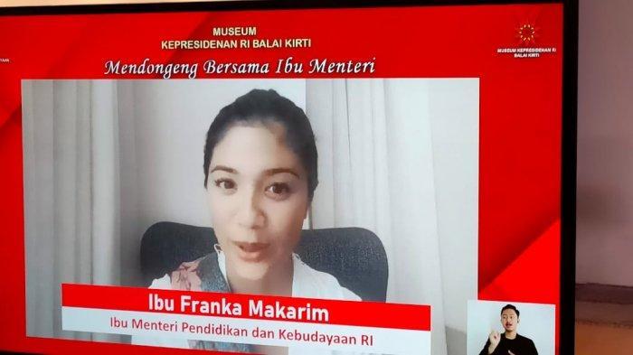 Istri Nadiem Makarim Bacakan Dongeng di Museum Kepresidenan Balai Kirti Bogor
