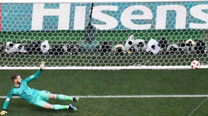 David De Gea Kiper dengan Refleks Terburuk pada Piala Dunia 2018