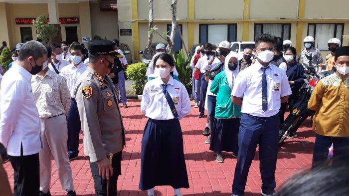 Hari Ke-3 Sekolah Tatap Muka, Puluhan Pelajar di Kota Bogor Ikut Apel Prokes