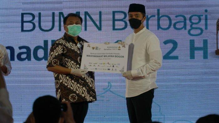 Dedie A Rachim Apresiasi BUMN Bantu Beri Puluhan Ribu Paket Sembako untuk Warga Bogor