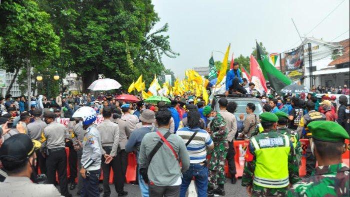 Demo mahasiswa yang berlangsung Kamis (8/10/2020) di Kota Bogor berakhir dengan tertib dan damai.