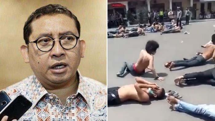 Puluhan Pria Diduga Pendemo Dijemur Telentang di Aspal, Fadli Zon : Pelanggaran Hak Asasi Manusia