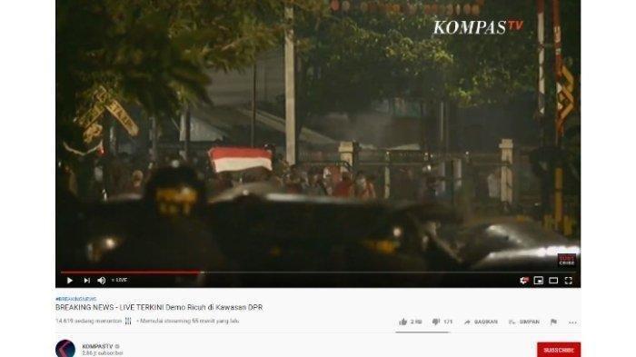 UPDATE Pukul 20.30 WIB Aksi Demo Pelajar di Gedung DPR, Polisi Tembakan Gas Air Mata